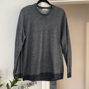 Selected Home Gray Cotton Mens Classic Sweater